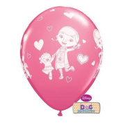 Doc McStuffins & Friends Rose Pink 30cm Qualatex Latex Balloons x 6