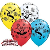Marvels Ultimate Spiderman Non Message 28cm Qualatex Latex Balloons x 10