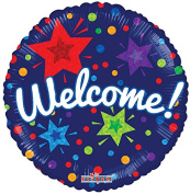 Welcome 46cm Mylar Balloon Bulk