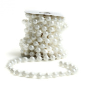 Big Beautiful 12mm White Pearl Bead Garland
