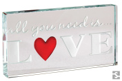 """Spaceform """"All You Need Is Love"""" Miniature Glass Landscape Token"""