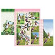 Fun In The Sun Luxury Decoupage Set A4-Game, Set, Match & Tee Time