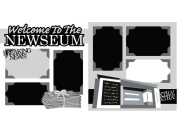"""""""Welcome to the Newsuem"""" Scrapbook Kit"""