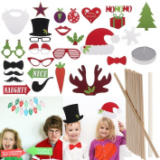 27x Photo Booth Props Wedding Christmas Fun Photo Booth Props on a Stick Christmas Birthday Weddings Party