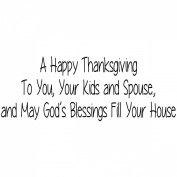 Gourmet Rubber Stamps Cling Stamps 7cm x 12cm -Happy Thanksgiving To You