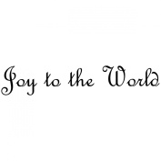 Gourmet Rubber Stamps Cling Stamps 7cm x 12cm -Joy To The World