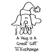 Gourmet Rubber Stamps Cling Stamps 7cm x 12cm -A Hug Is A Great Gift To Exchange