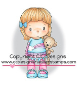 C.C. Designs Swiss Pixie Lucy with Teddy Rubber Stamp