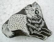 Dog design wooden block stamp/ Tattoo/ Indian Textile Printing Block