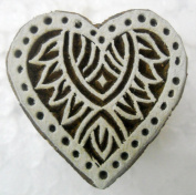 Heart Design wooden block stamp for love/ Tattoo/ Indian Textile Printing Block