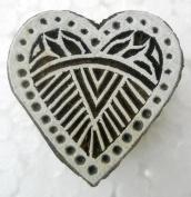Heart Design wooden block stamp/ Tattoo/ Indian Textile Printing Block