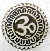 Aum/ Om design Wooden Block Stamp/ Textile Block Stamp/ Tattoo/