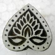 Valentine Heart Design wooden block stamp/ Tattoo/ Indian Textile Printing Block