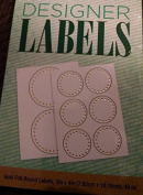 Gold Foil Round Labels - 10 Sheets - 40 Pieces