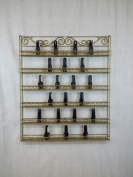 Pana Brand *Register under Pana* Nail Polish Wall Rack (Fit Up To 100 Bottles of Nail Polish) (Metal Frame, Unbreakable)
