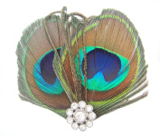 FOONEE Girls Boutique Little Cute Peacock Feather Hair Clip / Pin