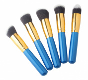 FOONEE Pro Foundation Makeup Tools Cosmetic Brush Blending Face Brush Kit Sets,Set of 5