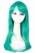 Long Colourful Anime Straight Smooth Bangs Full Wigs Hair Cosplay Party Wig+ Free Wig Cap Net Cw143