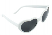 FOONEE Fashion Oversized Heart Shaped Plastic Frame Sunglasses Eyewear,White