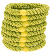 L. Erickson Ponytail Holders - Set of Eight - Cactus