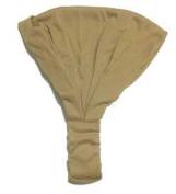Light Brown Solid Cotton Wide Pre Tie Headband - Minimalist Wide Cotton Pre-Tied Headband In Light Brown