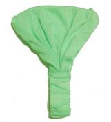 Lime Solid Cotton Wide Pre Tie Headband - Minimalist Wide Cotton Pre-Tied Headband In Soft Lime