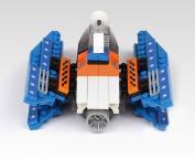 JINPIN Toys for Kids 130-Piece Interstellar Fighter Wings Plastic Blocks Toys Set