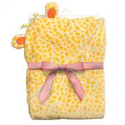 Baby Dumpling Little Fair Hooded Plush Blanket, Giraffe