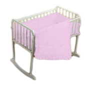 bkb Simplicity Cradle Bedding, Pink, 38cm X 80cm