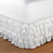 bkb Organza Crib Dust Ruffle, White, Ecru