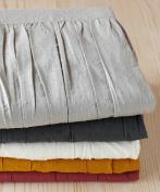 Coyuchi Organic Cotton Swiss Dot Crib Skirt - Dusty Rose