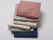 Coyuchi Organic Cotton Lace 220 Percale Crib Skirt