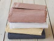 Coyuchi Organic Cotton Mini Stripe Cotton & Linen Crib Skirt - Indigo