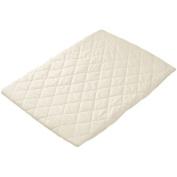 bkb Crib Flat Mattress Protector, White