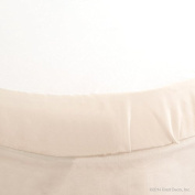 Bratt Decor classic oval crib sheet soft white