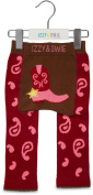 Red and Pink Cowgirl 6-12 Month Baby Leggings