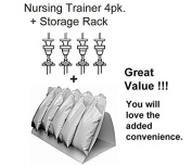 Nursing Trainer 4 Pack Plus Storage Rack
