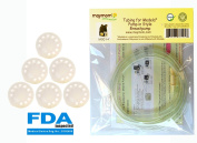 Tubing for Medela Pump in Style Advanced Breastpump Released After Jul 2006 Plus 6 Membranes in Retail Pack. Replaces Medela Tubing #8007212, 8007156 & 87212. BPA Free. Made By Maymom