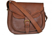 HLC 25cm x 18cm Brown ,Genuine Leather Women's Bag /Handbag / Tote/purse/ Shopping Bag