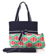 Scallop Print Quilted Nappy Bag