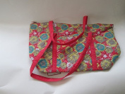 East Coast Quilted Tote Coral