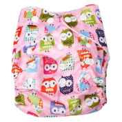 New Baby Girls Infant Pocket Colth Nappy Nappy Washable Print Cover + 2 Inserts