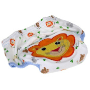 Cotton Reuseable Baby Infant Nappy Pants Waterproof Cover Training Lion Print
