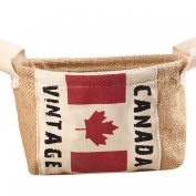 AutumnFall® Home Mini Toy Desktop Finishing Cotton And Debris Basket Canadian Flag
