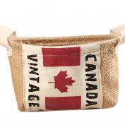 AutumnFall® Home Mini Toy Desktop Finishing Cotton And Debris Basket Canadian Flag