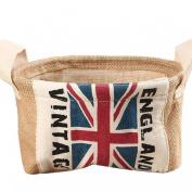 AutumnFall® Home Mini Toy Desktop Finishing Cotton And Debris Basket British Flag