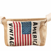 AutumnFall® Toy Desktop Finishing Cotton And Debris Basket American Flag