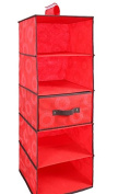 SANTHREE 5 Shelving Hanging Wardrobe Closet Students Organise Bag
