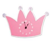 Trend-Lab Baby Nursery Pink Tiara Wall Clock