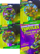 Teenage Mutant Ninja Turtles Children's Night Light Pack of 3 the Perfect Children's Room Decorations with Bonus Teenage Mutant Ninja Turtles Sticker Book